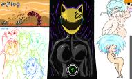 brackets celty colorful girls kawaii noir orgy patapon that_guy (801x481, 189.1KB)